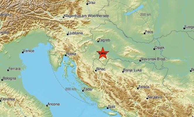 Novi potres od 3,4 po Richteru pogodio središnju Hrvatsku; Osjetilo se i u okolnim gradovima…